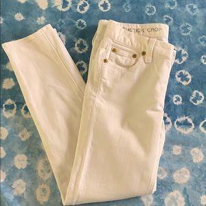 J.Crew White Crop Jeans
